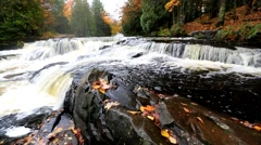 Bond Falls in Michigan - Upper Peninsula - stock footage