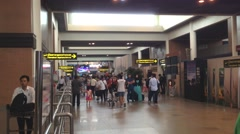 Travellers at Don Mueang International Airport, Bangkok Thailand. Stock Footage