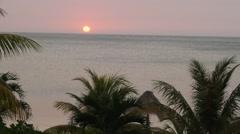 Honduran sunset Stock Footage