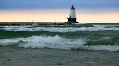 Lake Michigan Storm Stock Footage