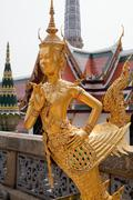 Kinnara-statue - stock photo