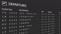 Airport Departure Board - stock footage