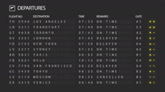 Airport Departure Board Stock Footage