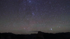 Milky way time lapse, shot in Yosemite National Park Stock Footage