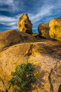 Large boulders at Mount Rubidoux Park, in Riverside, California. Stock Photos