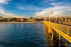 The Belmont Pier in Long Beach, California. Stock Photos