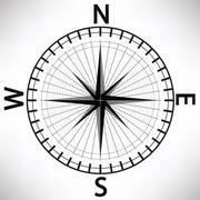 compass - stock illustration