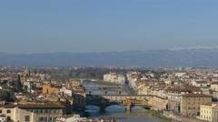 4K Italy Tuscany Toscana Florence skyline Palazzo Vecchio Duomo Cathedral Santa Stock Footage