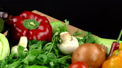 Vegetables All Together, close up, rotating Stock Footage