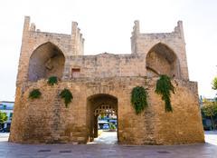 Alcudia Old Town Majorca Porta des Moll Mallorca - stock photo