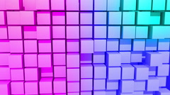 Color Cubes motion background, seamless looping Stock Footage