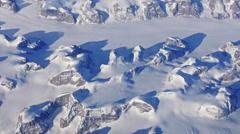 flight over Greenland - stock footage