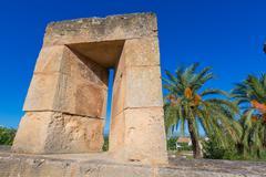 Alcudia Old Town fortress wall in Majorca Mallorca Stock Photos