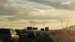 4K Italy Florence highway expressway Motorway A1 to Rome Roma Stock Footage
