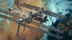 international space station iss 4K v4 - stock footage