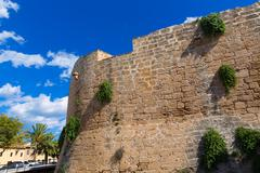 Stock Photo of Alcudia Old Town fortress wall in Majorca Mallorca