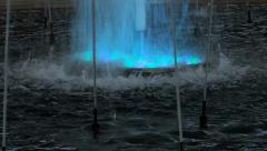 Fountain with changing colors (seamless lopping) Stock Footage