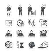 Stock Illustration of Time management icons set