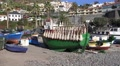 4k Camara de Lobos fishing village harbor Madeira Footage