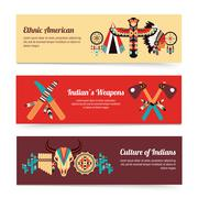 Ethnic design concept banners Stock Illustration