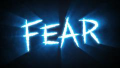 Claw Slashes Fear Blue - stock footage
