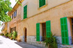 Alcudia Old Town in Majorca Mallorca Balearic Stock Photos