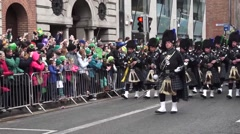 St Patricks Day Dublin Band Stock Footage