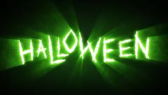 Claw Slashes Halloween Green - stock footage