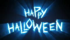 Claw Slashes Happy Halloween Blue - stock footage
