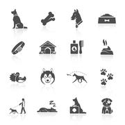 Dog Icons Set Stock Illustration