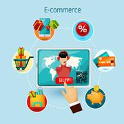 E-commerce Concept Illustration Stock Illustration