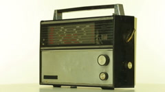 Old radio on a white background Arkistovideo
