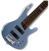 Six String Bass Stock Illustration