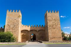 Alcudia Porta de Mallorca in Old town at Majorca - stock photo