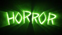 Claw Slashes Horror Green Stock Footage