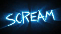 Claw Slashes Scream Blue - stock footage
