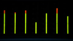 Volume unit (VU) Meter, monitoring Sound Levels in the Studio Stock Footage