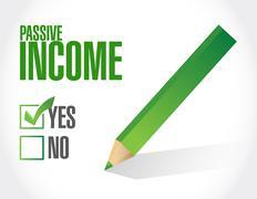 passive income approve concept illustration - stock illustration