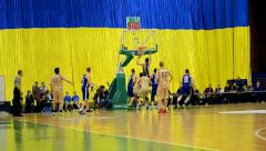 Basketball championship F4 Final in Kiev, Ukraine. - stock footage