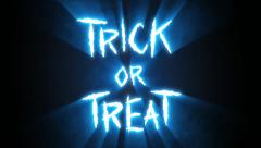 Claw Slashes Trick or Treat Blue Stock Footage