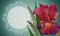 Beautiful floral banner, poster, card, birthday greetings and other. Abstract - stock illustration