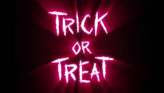 Claw Slashes Trick or Treat Red Stock Footage