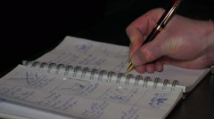 Pen take notes notebook Stock Footage