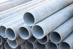 asbestos pipes - stock photo
