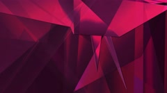 Low Poly Triangular Abstract Background, red Stock Footage