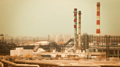 Urban industrial factory Stock Footage