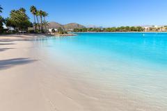 Stock Photo of Platja de Alcudia beach in Mallorca Majorca