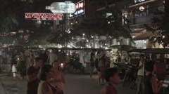 A shot of the night market in Siem Reap Cambodia Stock Footage