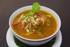 Kaeng Hung Ley Moo or Pork Curry Northern Thai food Stock Photos