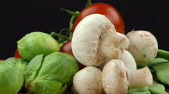 Vegetables All Together Stock Footage